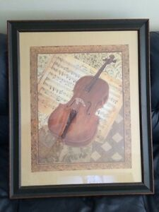 BEAUTIFUL VIOLIN & SHEET MUSIC PRINT London Ontario image 1