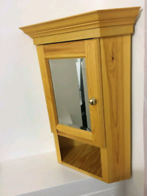 Solid wood Corner unit with mirror excellent condition