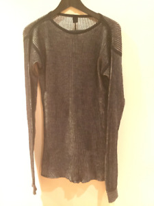 RICK OWENS long sleeve sweater ribbed sweater BRAND NEW XS