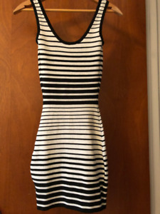 Guess by Marciano, Silver and Black/metallic bodycon dress, size