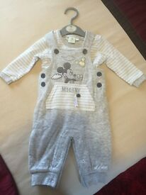 Disney Mickey Mouse Dungarees