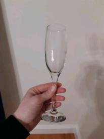 Brand new glasses champagne flutes