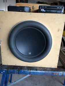 13.5 inch JL Audio W7, soundstream amp and capacitor. London Ontario image 7