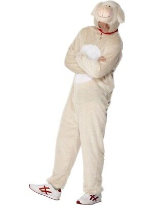 Adult's Lamb Sheep Costume Animal Fancy Dress Ladies Mens Funny Outfit - Men Animal Costumes