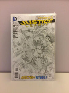 Comic Book - Justice League  - B/W Variant New 52 #14
