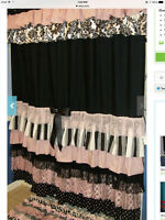 Custom shower curtain and accessories