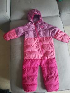 Pink snowsuit 18-24 months