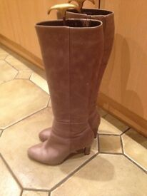 Ladies Taupe leather boots Autograph range