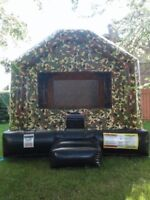 """Bouncy Castle Military 14'4""""L X 13'4""""W X 12'H $100/Day"""