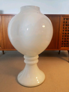Large White Glass Vase - Paid Over $300