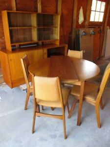 MID CENTURY TEAK DININGROOM SUITE FROM ESTATE