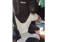 RECARO car seat booster chair /adjustable recline with internal speaker head ports