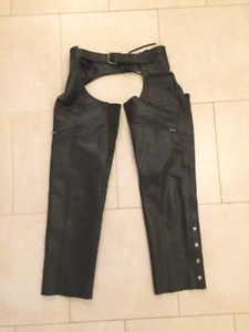 Joe Rocket Full Leather Motorcycle Chaps