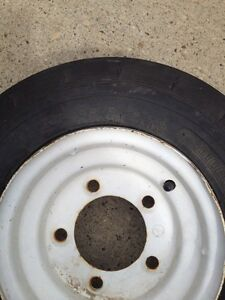 Trailer tire and rim 4.80/4.00- 8 Seiberling