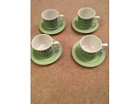4 teacup and saucers
