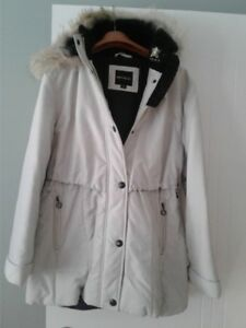 Ladies Coat with a real fur hooded trim