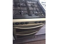 Silver gold stove 55cm gas cooker grill & oven good condition with guarantee