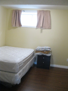One bedroom in a basement in Eagle ridge available immediately