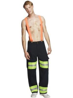 Fever Kollektion Feuerwehrmann Kostüm mit Hose und Hosenträgern Gr. (Feuerwehr Hose Kostüm)