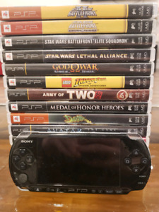 Modded PSP 3000 (Full Of 1000s Of Retro Games) and PSP Games!