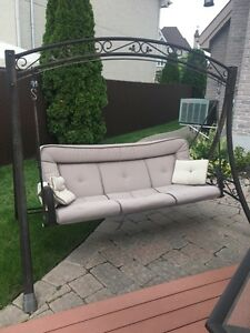 Outdoor swing set for lawn patio furniture