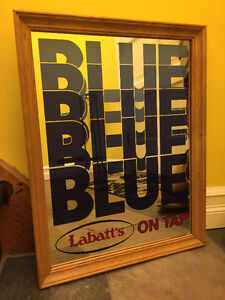 Labatt's Blue Mirror Beer Sign