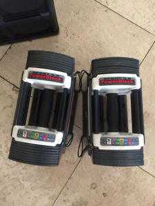 Pair of Powerblock Sports 5.0 Adjustable Dumbbell 5lb to 50lbs
