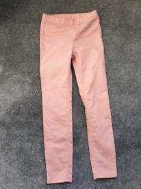 Girls H&M pink jeggings- size 7-8 yrs