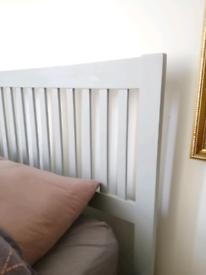Double bed frame light dove blue