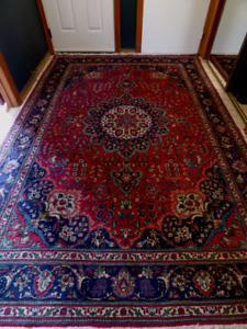 Antique 1930's Tabriz, Persian hand knotted area rug 10 x 6.9