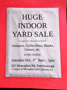 HUGE INDOOR YARD SALE Peterborough Peterborough Area image 1