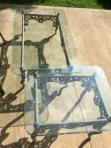 1 Glass Coffee Table and Matching Glass Side Table Kitchener / Waterloo Kitchener Area image 1
