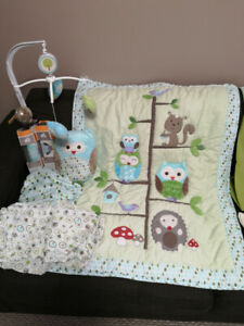 Owl Nursery Crib Bedding Set