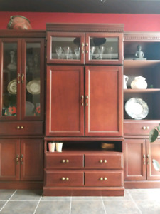 Antique Three Piece Wooden Wall Unit for Sale