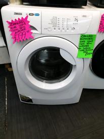 White zanussi 10kg load washing machine