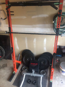 Rogue Fitness Weight set for sale! Barbell, bumper plates, etc.