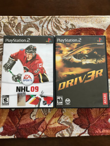 Playstation 2 Games - NHL 09 & Driver 3