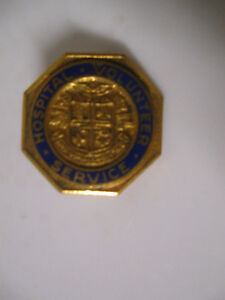 COLLECTOR'S OLD VINTAGE HOSPITAL VOLUNTEER SERVICE LAPEL PIN
