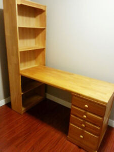 Good condition real Wooden SHELF DESK