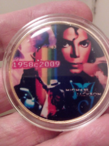 Large 40mm Michael Jackson The King of Pop 1958-2009 Coin