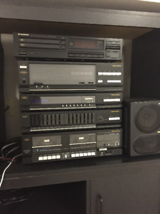 Realistic Stereo with turntable and  Pioneer 5 CD  player