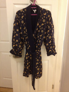 La Senza Navy Blue Knee Length Bathrobe