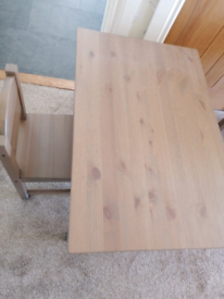 Childs IKEA table and chair.