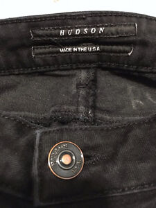 "HUDSON High Rise ""CARLY"" STRAIGHT LEG JEANS Black Ice, Size 26 London Ontario image 6"