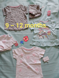 Girls tops 9/12 months