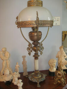 lampe en brass antique