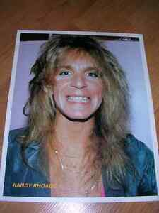 "1980's 8x10 picture of ""Randy Rhoads"" sold in record stores-80's"