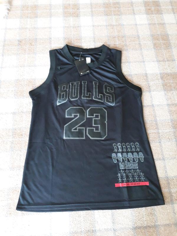 save off e8ede 4cb21 Michael Jordan Chicago bulls black jersey bnwt | in Ballymena, County  Antrim | Gumtree