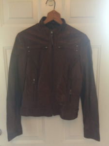 2XS WOMEN'S DANIER CHOCOLATE LEATHER JACKET $100 OBO