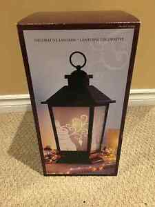 Decorative Holiday Lantern with LED Candle Kitchener / Waterloo Kitchener Area image 1